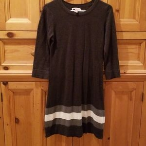 Banana Republic charcoal grey dress